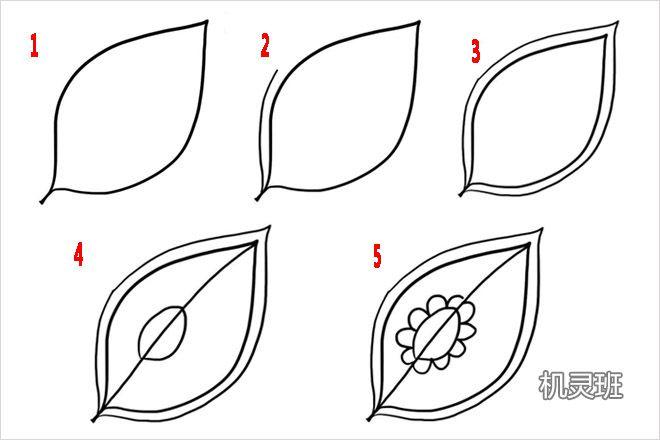 怎么画10种简单好看的叶子简笔画(步骤图解)图片