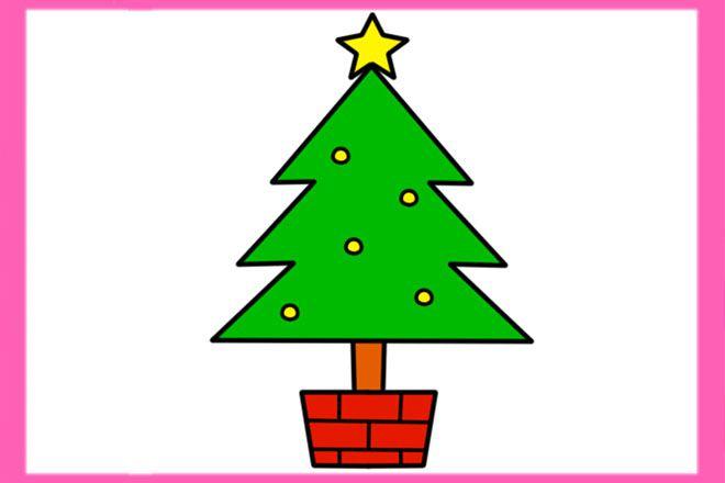 怎么教小班幼儿画圣诞树最简单的方法(步骤图解)