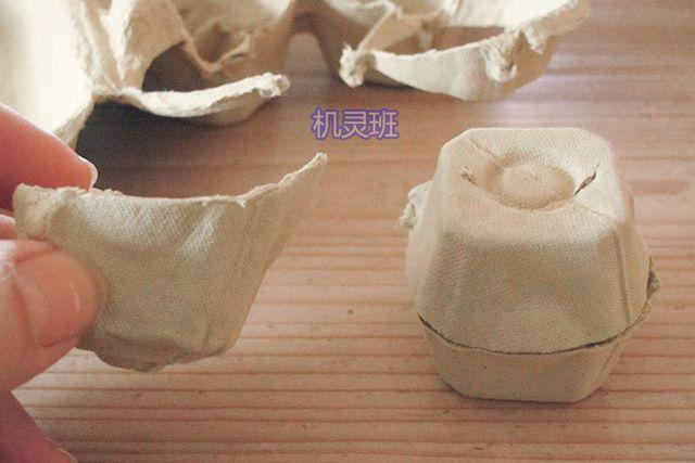 手工立体小动物:鸡蛋托制作吃竹子的大熊猫(步骤图解)2