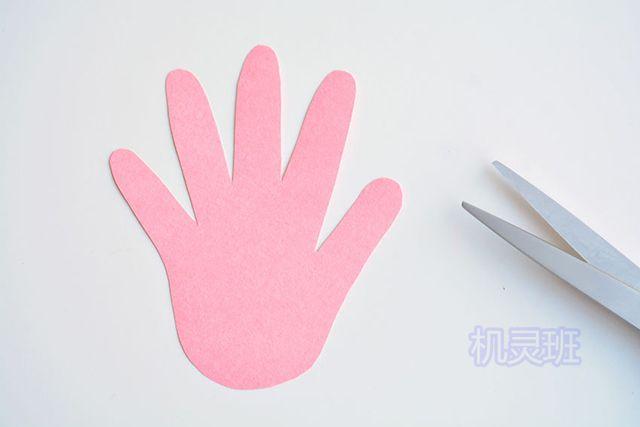 小班简单手工:简单有趣有创意剪纸手掌印画各种动物(步骤图解)2