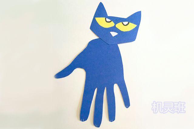 小班简单手工:简单有趣有创意剪纸手掌印画各种动物(步骤图解)9